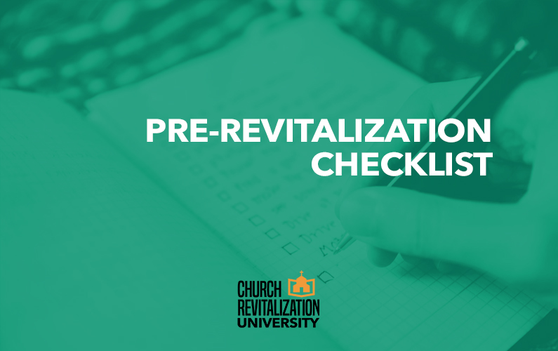 A Pre-Revitalization Checklist